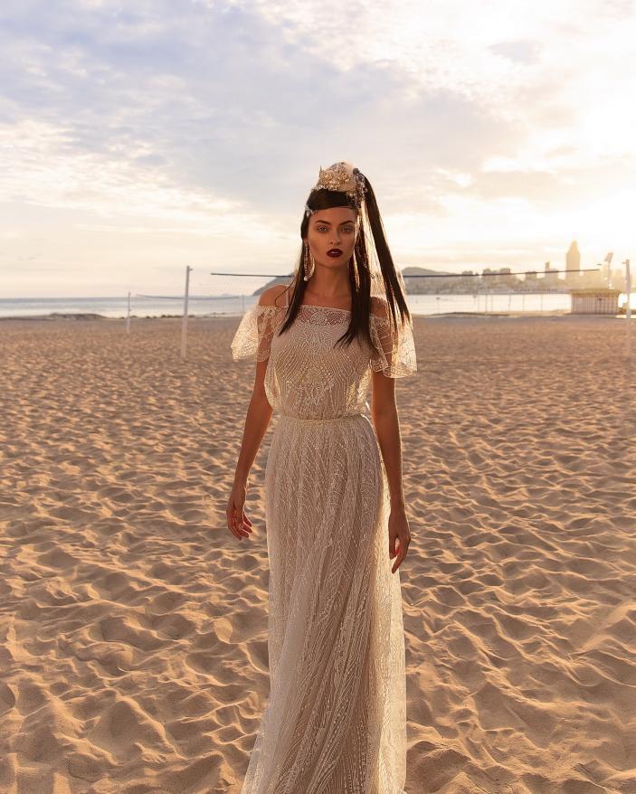 Rochie Mireasa pudra bej arabic style Nevada