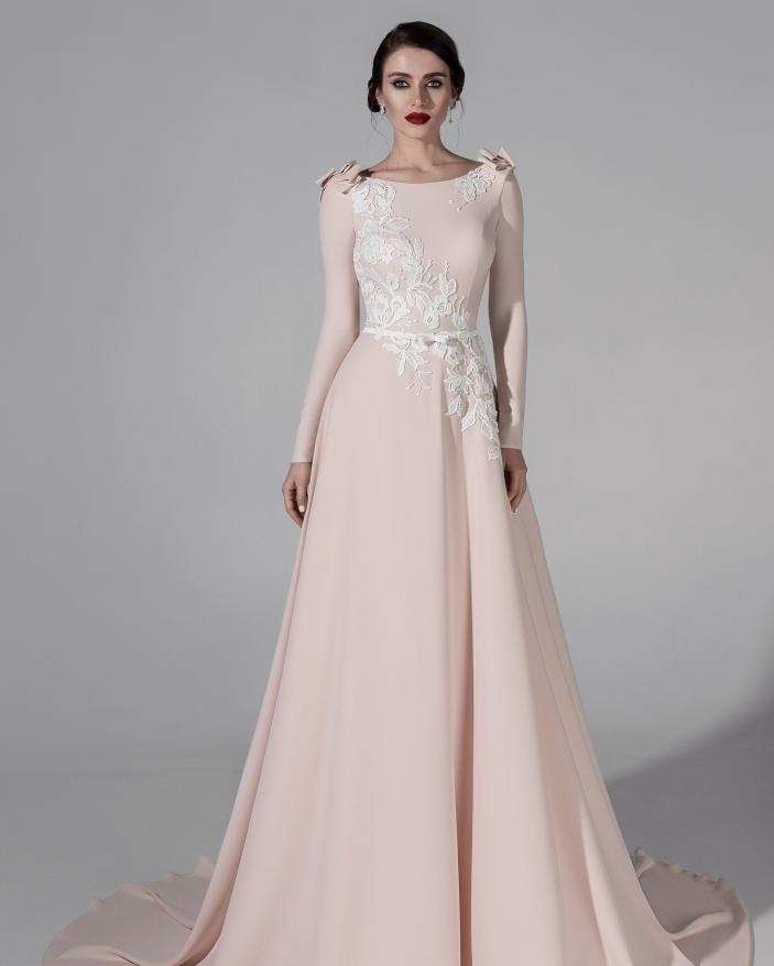 Rochie Mireasa imperiala pink Renata